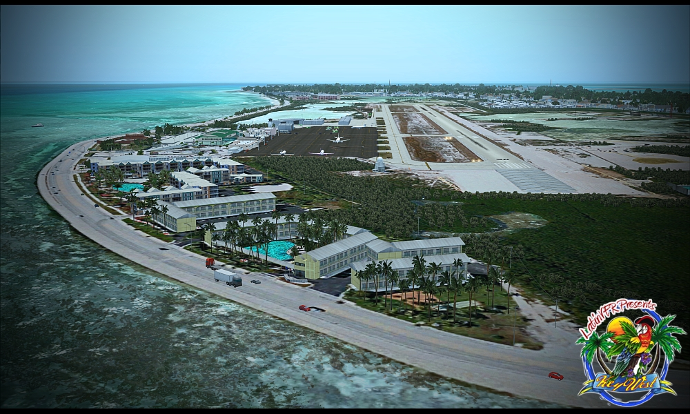Key West International Airport covers an area of 255 acres (103 ha
